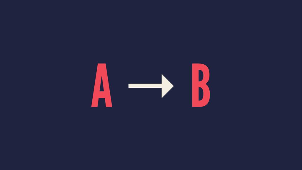 A → B