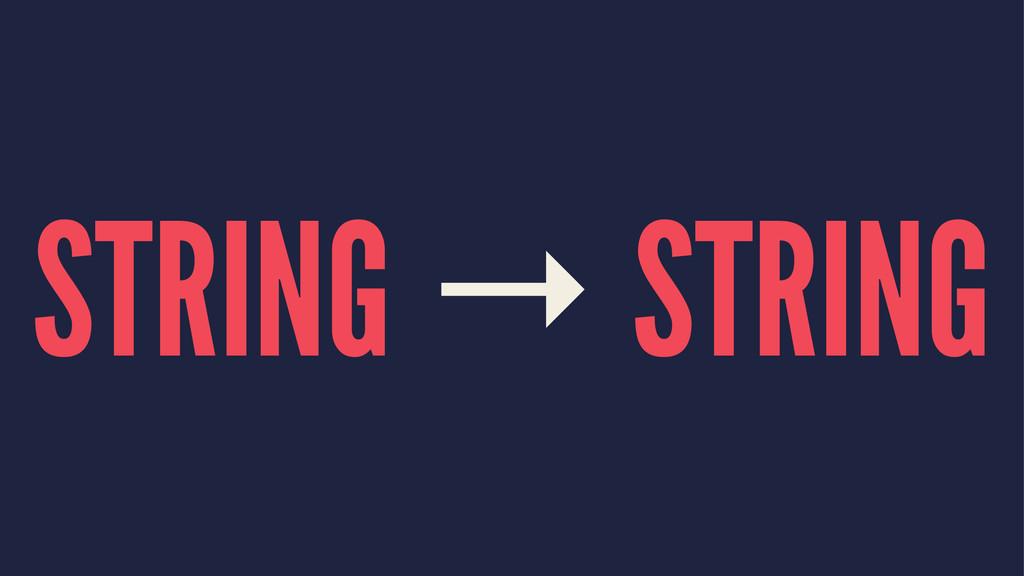 STRING → STRING