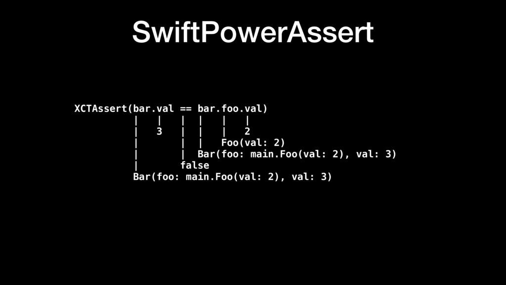 SwiftPowerAssert XCTAssert(bar.val == bar.foo.v...