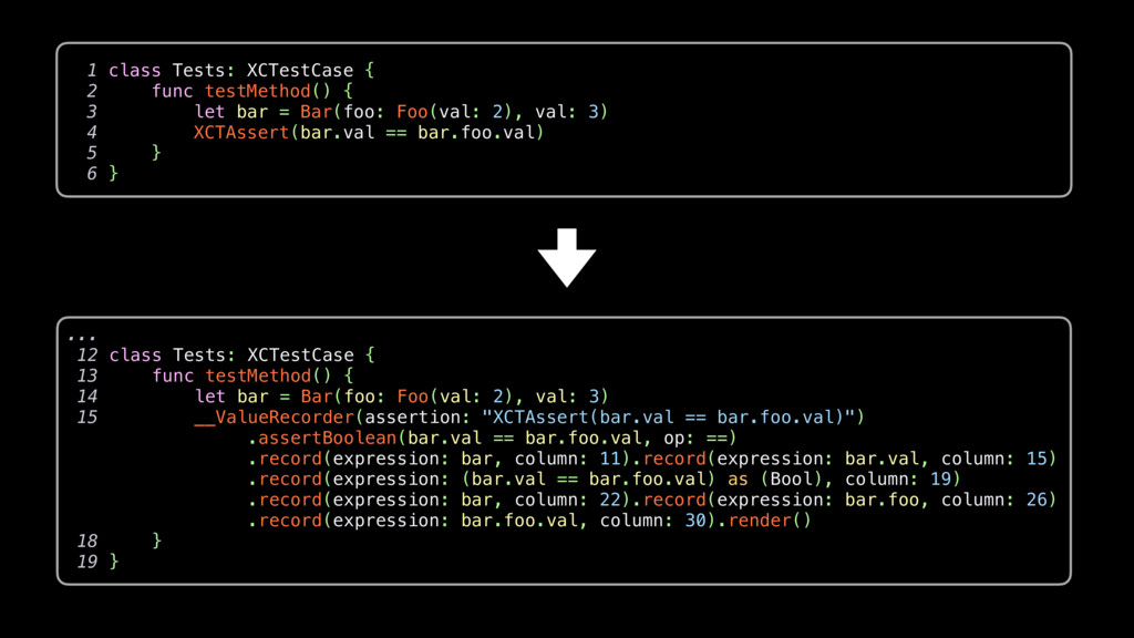 ... 12 class Tests: XCTestCase { 13 func testMe...