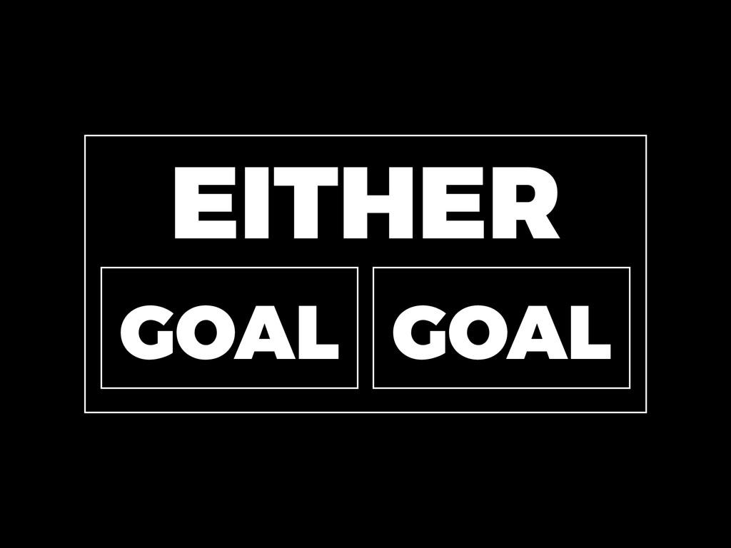 EITHER GOAL GOAL