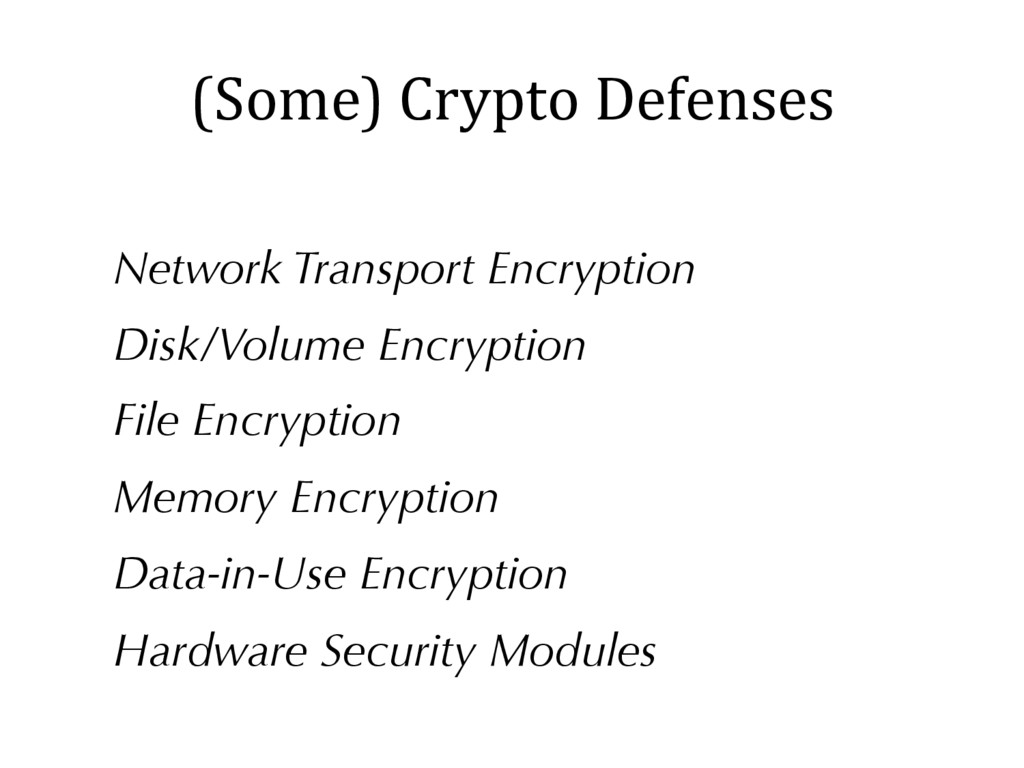 (Some) Crypto Defenses Network Transport Encryp...