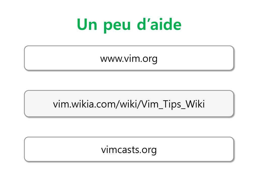 Un peu d'aide www.vim.org vim.wikia.com/wiki/Vi...