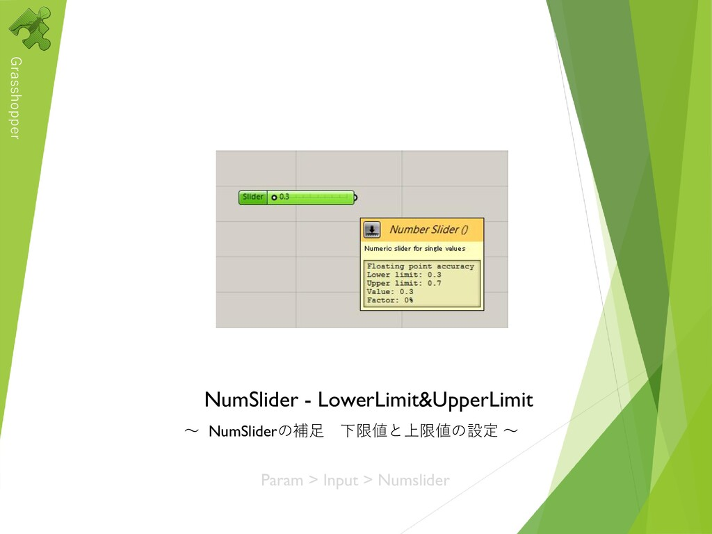 Grasshopper NumSlider - LowerLimit&UpperLimit ~...