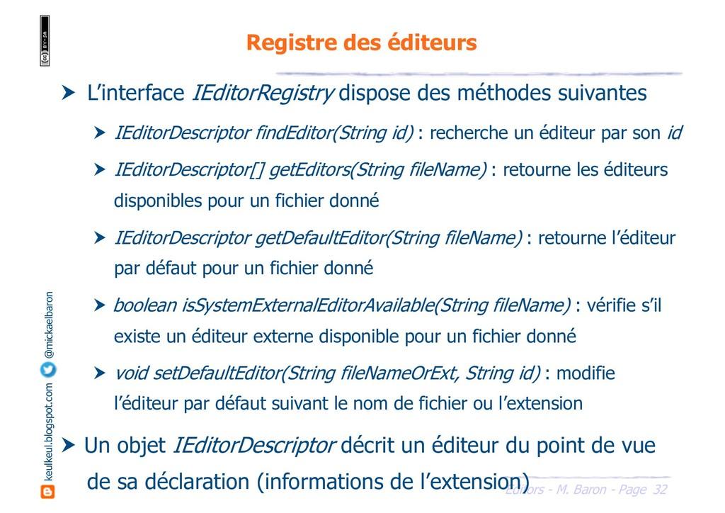 32 Editors - M. Baron - Page keulkeul.blogspot....