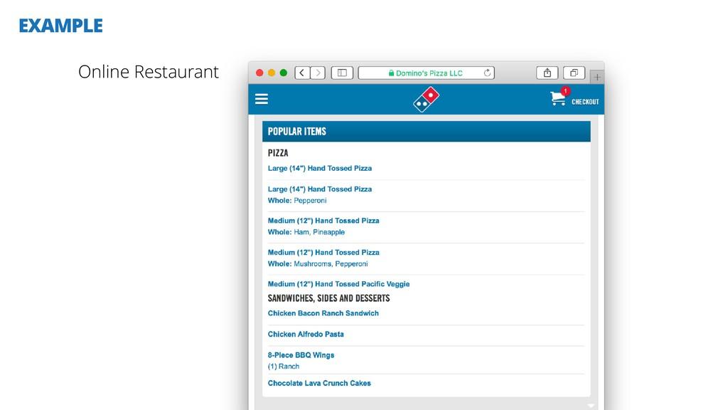 EXAMPLE Online Restaurant
