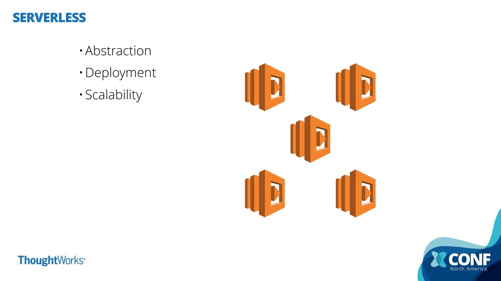 SERVERLESS •Abstraction •Deployment •Scalability