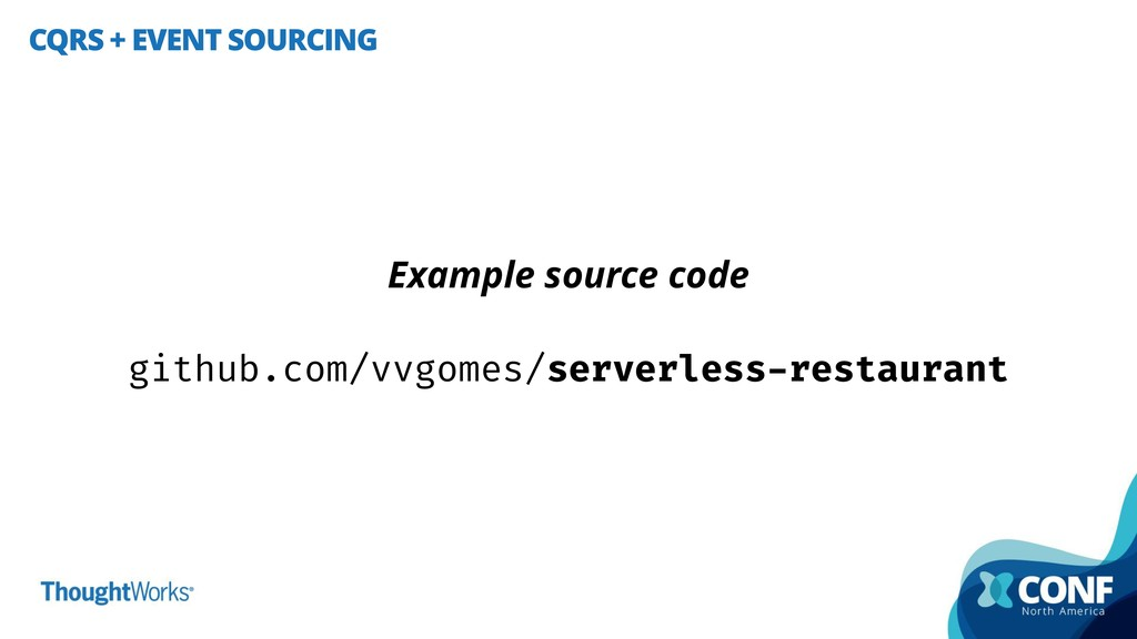 CQRS + EVENT SOURCING Example source code githu...