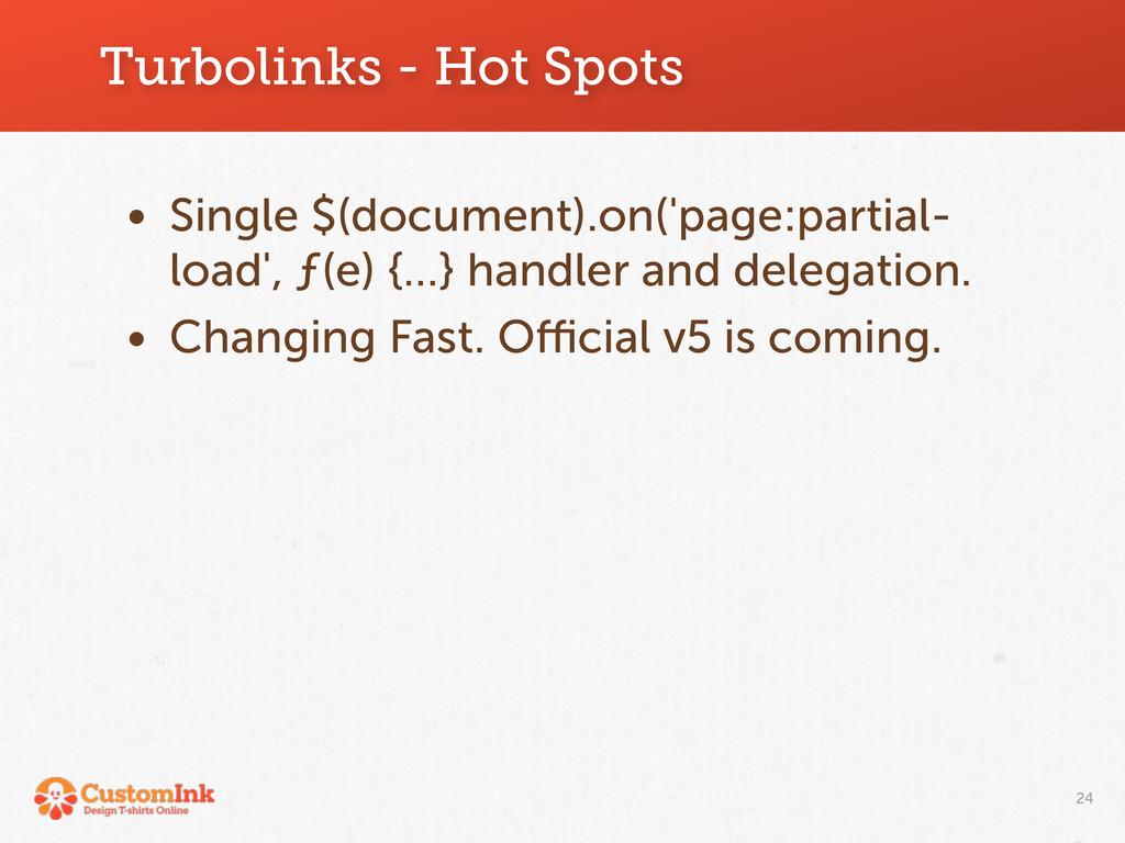Turbolinks - Hot Spots 24 • Single $(document)....