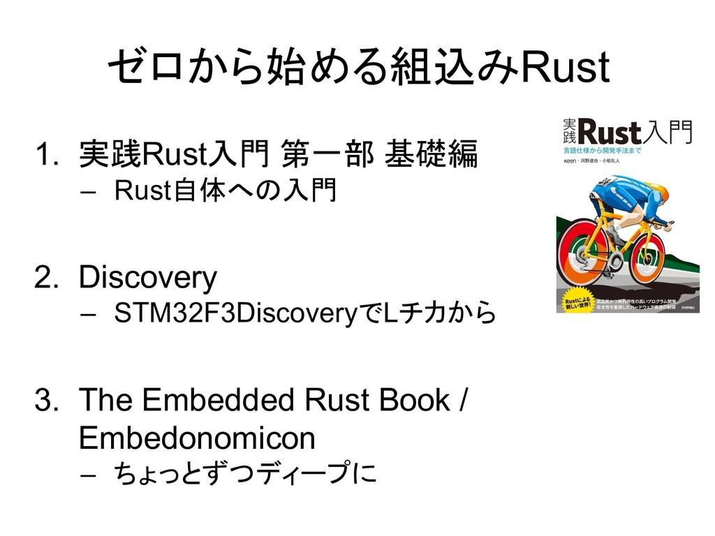 ゼロから始める組込みRust 1. 実践Rust入門 第一部 基礎編 – Rust自体への入門...