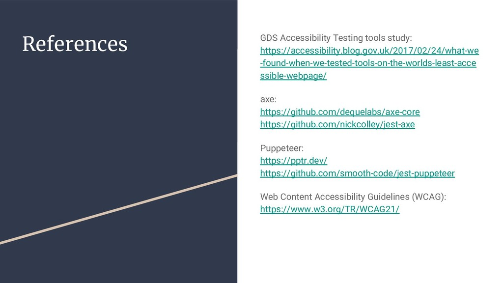References GDS Accessibility Testing tools stud...