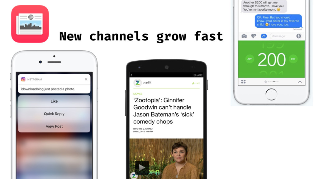 New channels grow fast