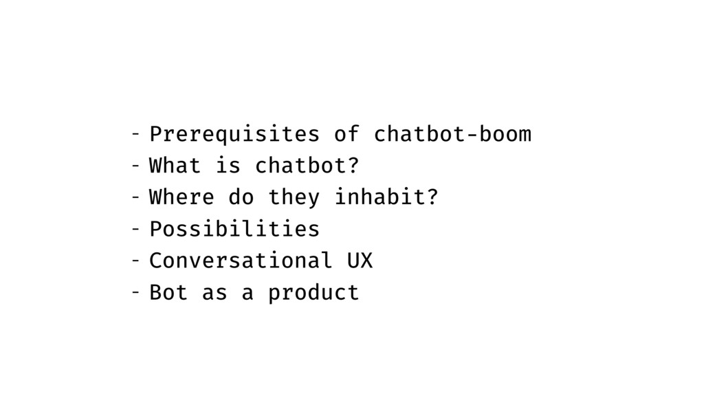 - Prerequisites of chatbot-boom - What is chatb...