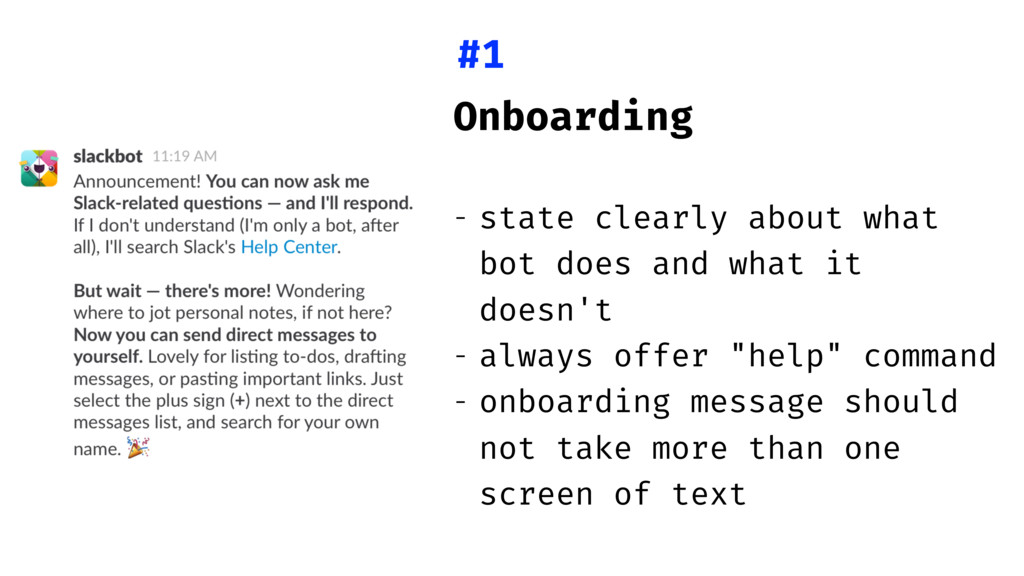 Onboarding - state clearly about what bot does ...