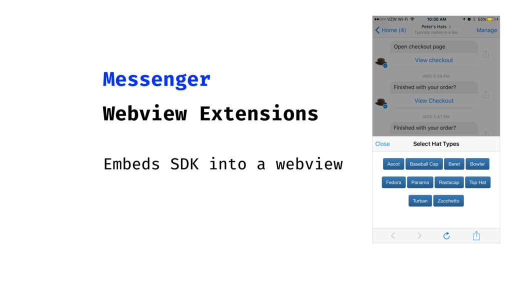 Messenger Webview Extensions Embeds SDK into a ...