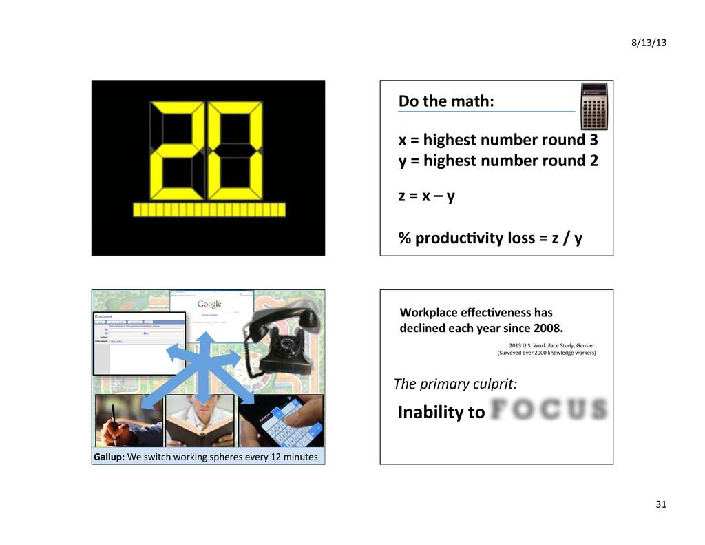 8/13/13% 31% Do%the%math:% x%=%highest%number%r...