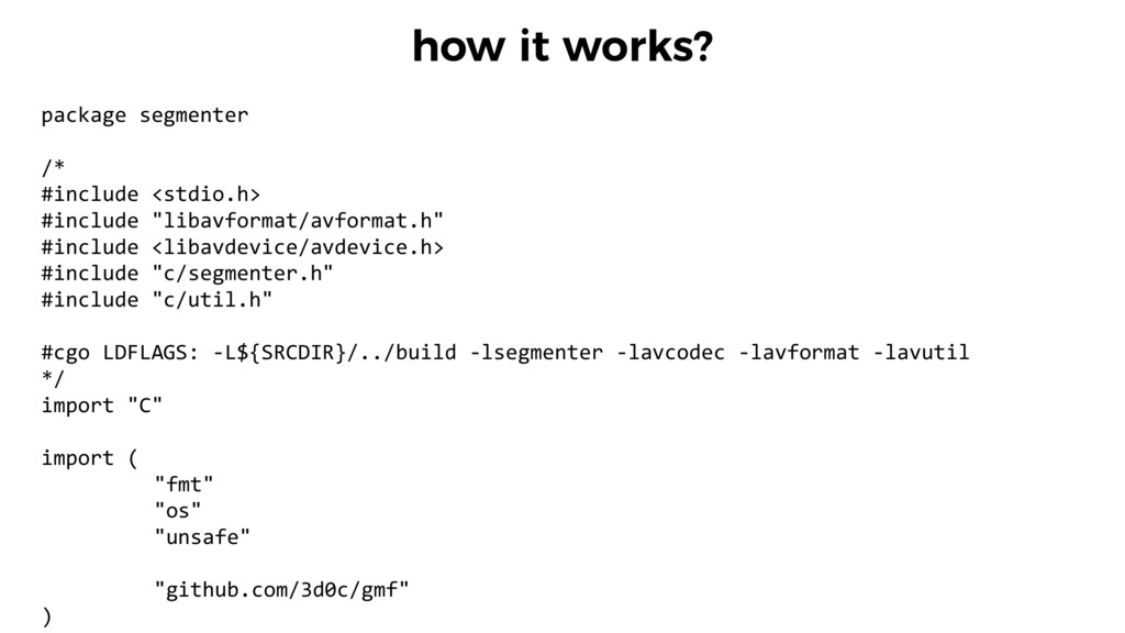 how it works? package segmenter  /*  #...