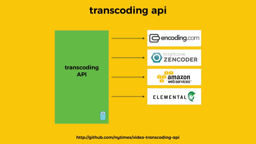 transcoding api transcoding API http://github.c...