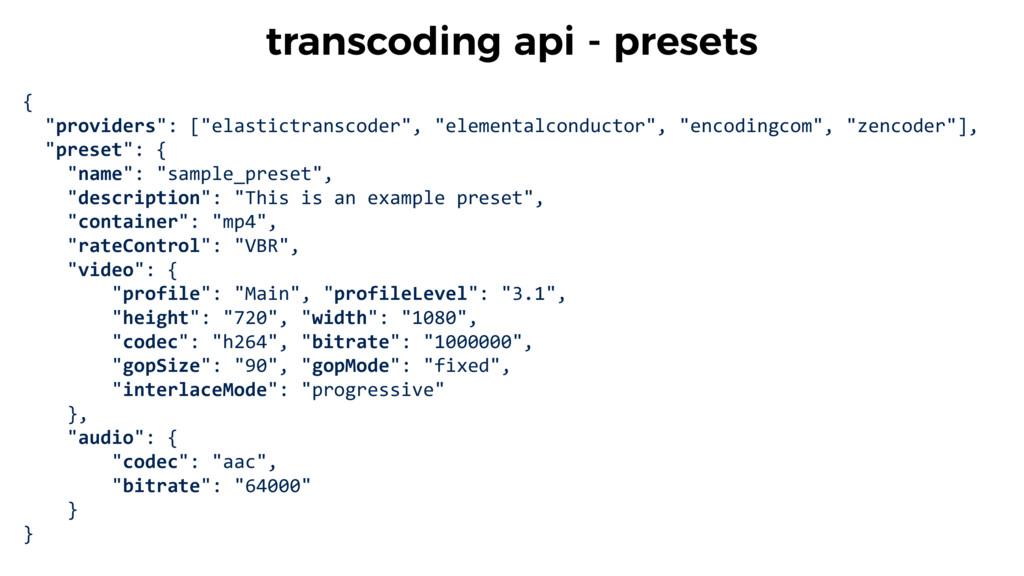 "{    ""providers"": [""elastictranscod..."