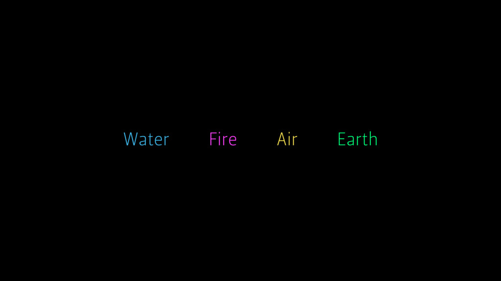 Earth Air Water Fire