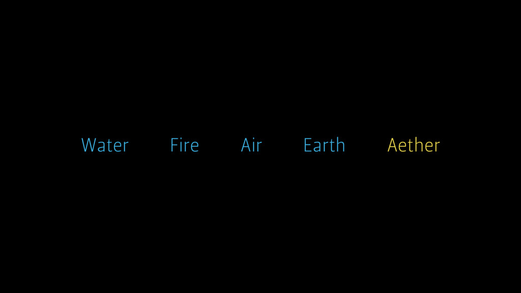 Earth Air Water Fire Aether