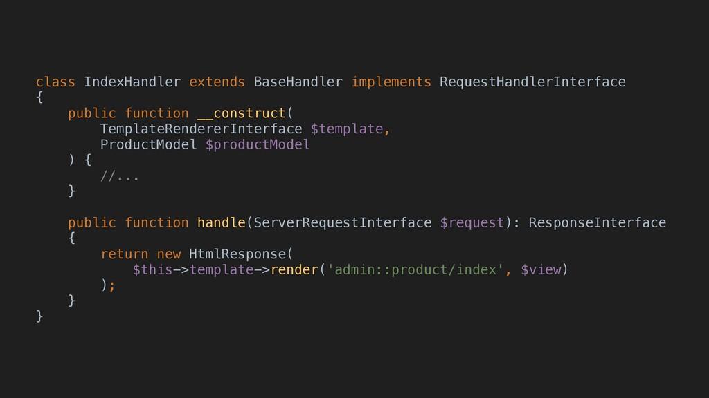 class IndexHandler extends BaseHandler implemen...