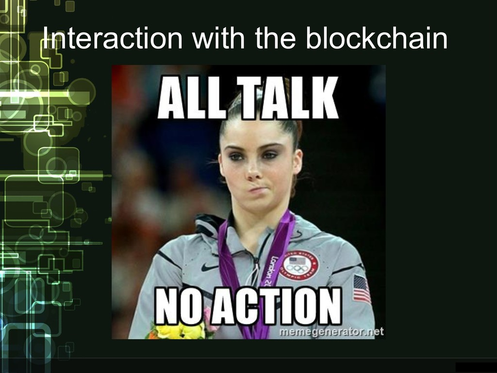Interaction with the blockchain