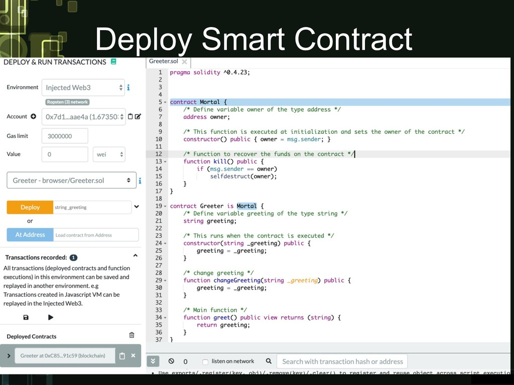 Deploy Smart Contract