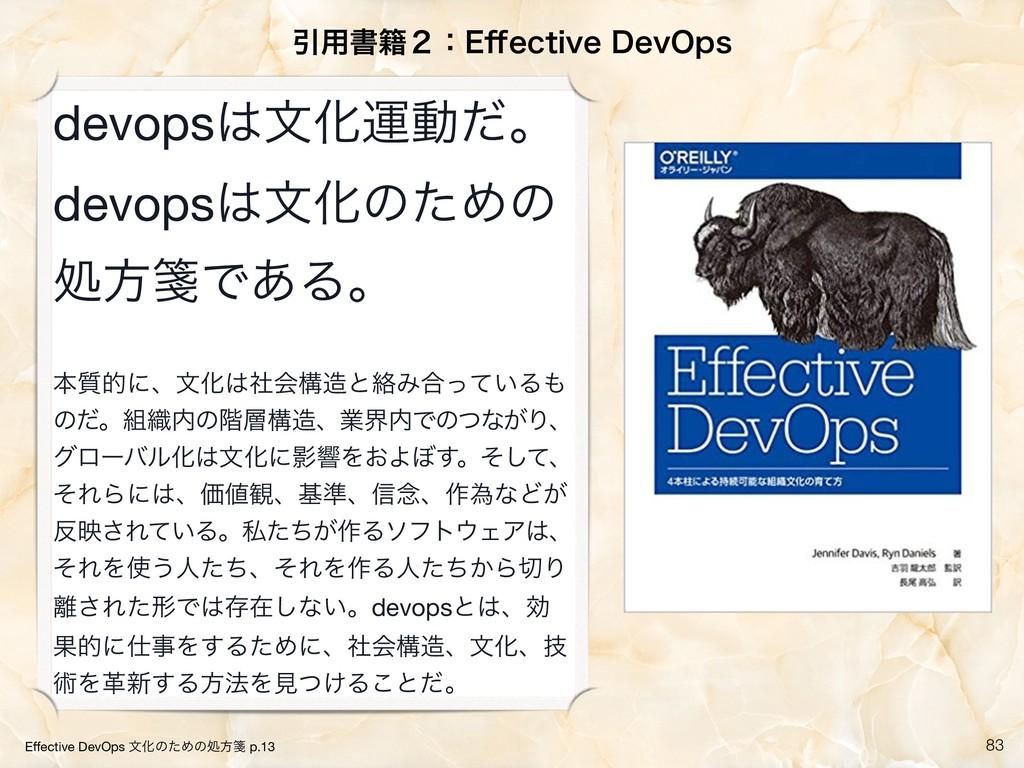 !83 Ҿ༻ॻ੶̎ɿ&⒎FDUJWF%FW0QT Effective DevOps จԽͷͨΊ...