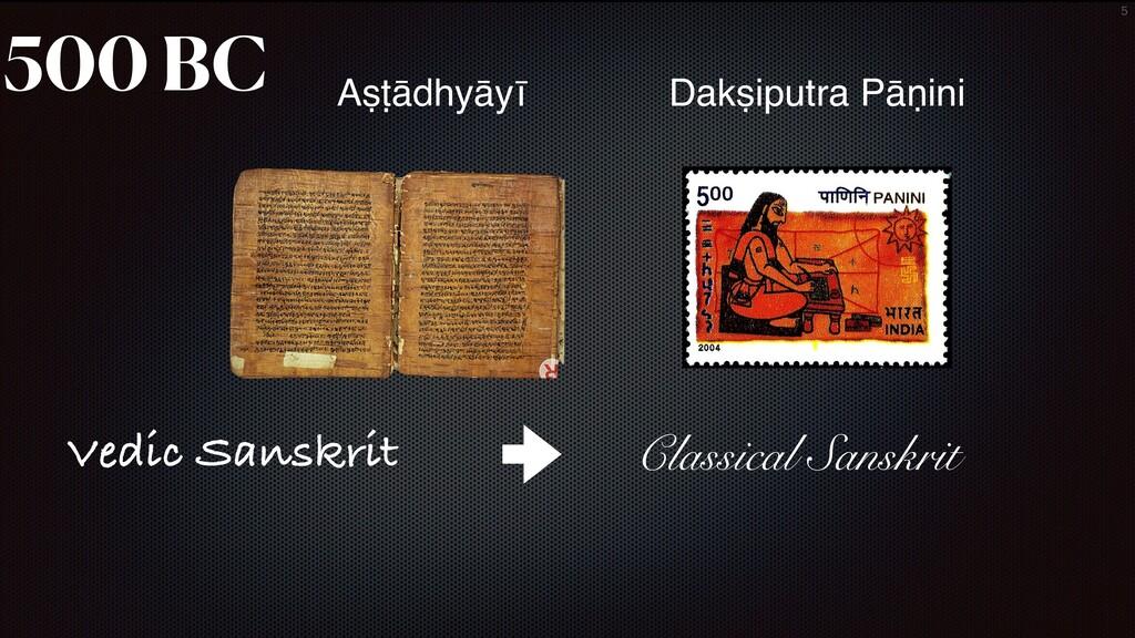 5 500 BC Aṣṭādhyāyī Dakṣiputra Pāṇini Vedic San...