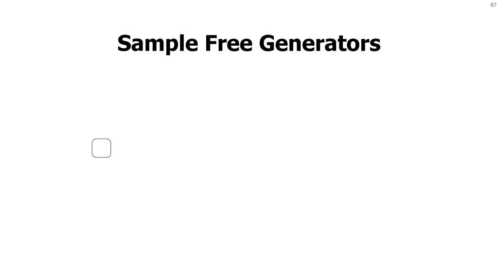 67 Sample Free Generators