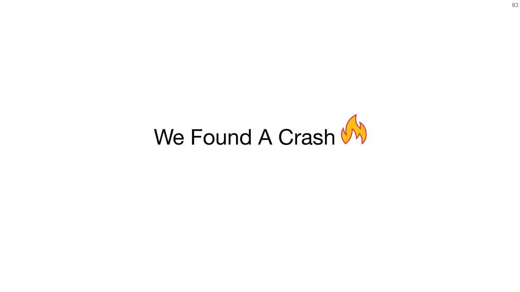83 We Found A Crash
