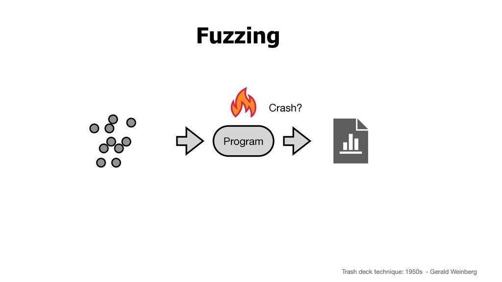 Fuzzing Crash? Program Trash deck technique: 19...