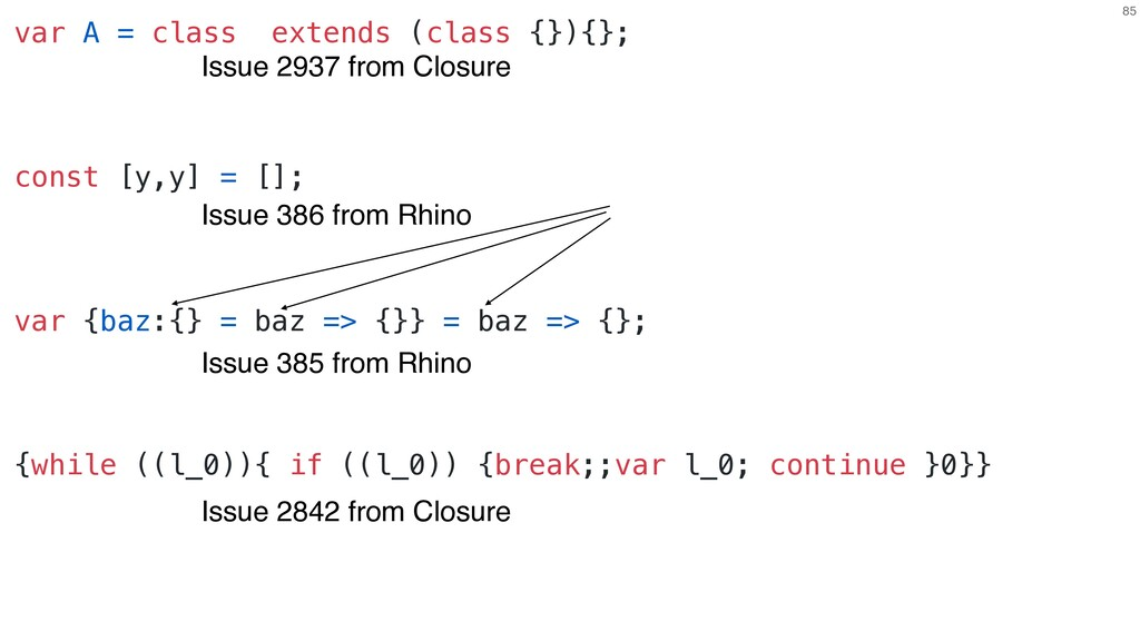 85 Issue 386 from Rhino var A = class extends (...