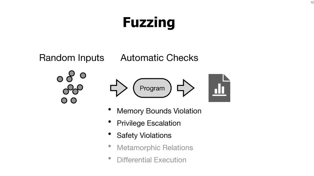 10 Fuzzing • Memory Bounds Violation  • Privile...