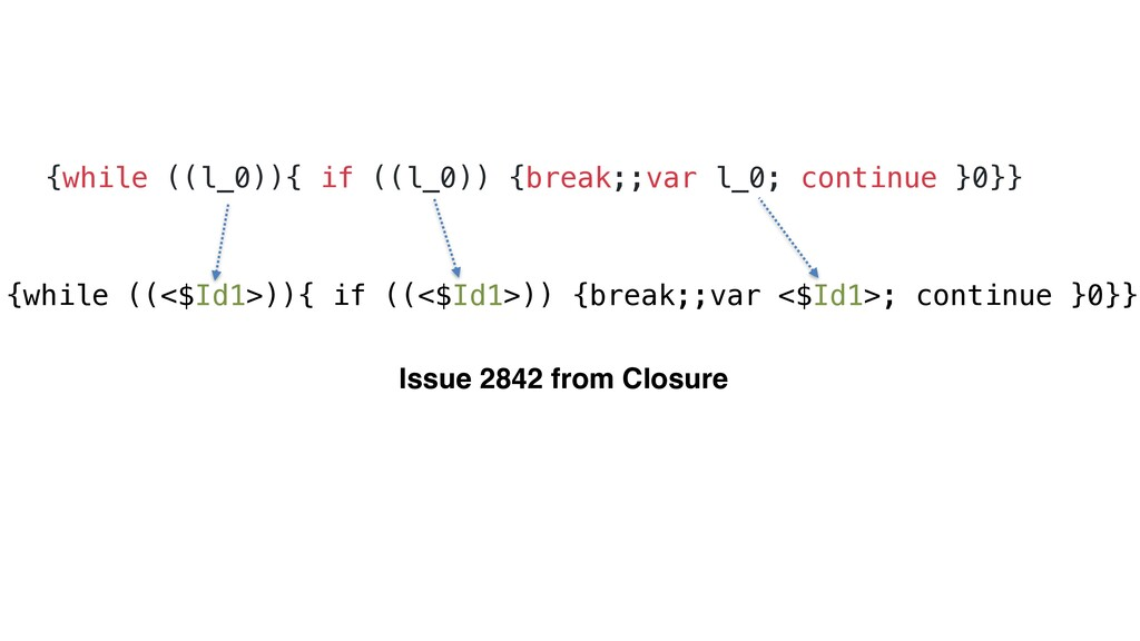 {while ((l_0)){ if ((l_0)) {break;;var l_0; con...