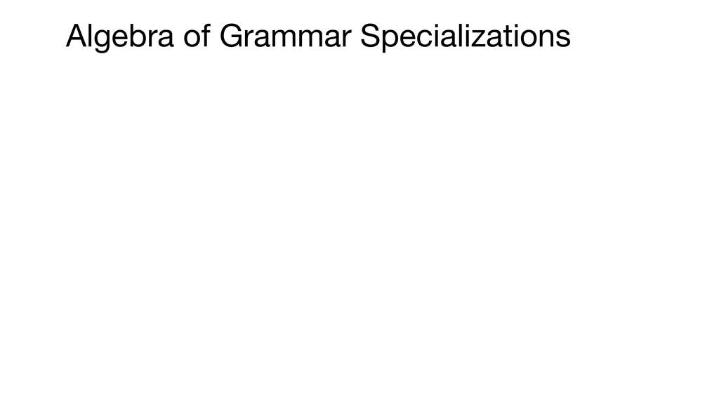 Algebra of Grammar Specializations