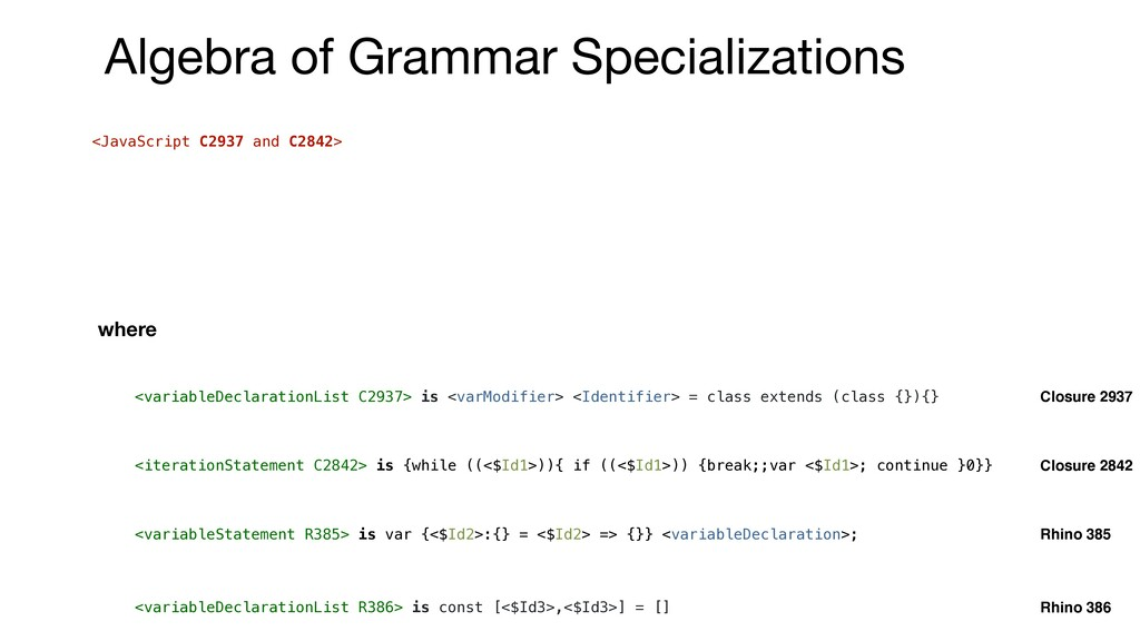 <JavaScript C2937 and C2842> <variableDeclarati...