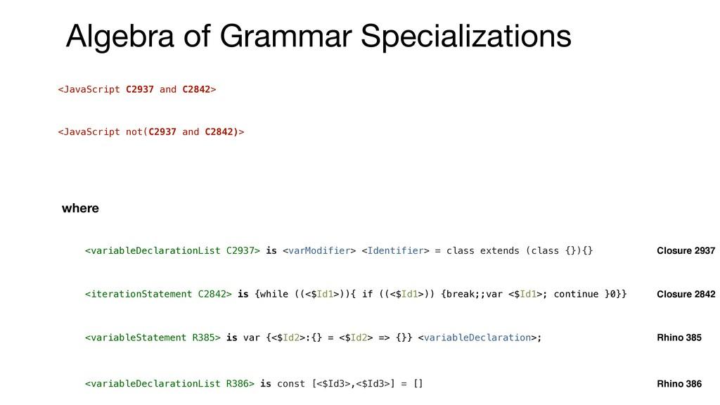 <JavaScript C2937 and C2842> <JavaScript not(C2...