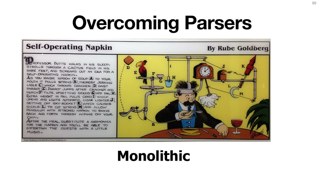 30 Monolithic Overcoming Parsers