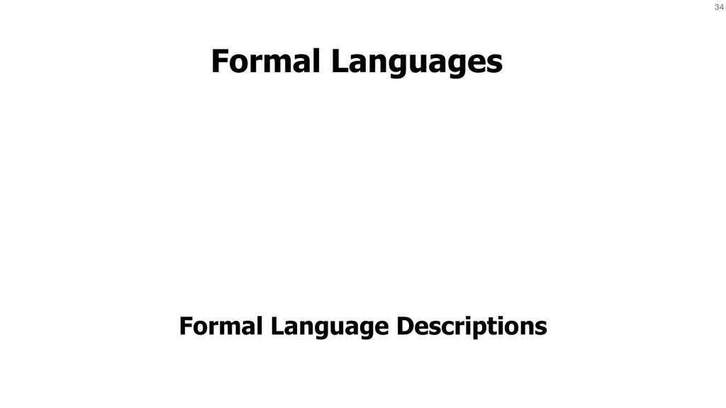 34 Formal Languages Formal Language Descriptions