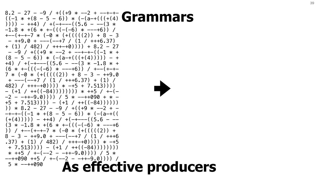 39 Grammars As effective producers 8.2 - 27 - -...