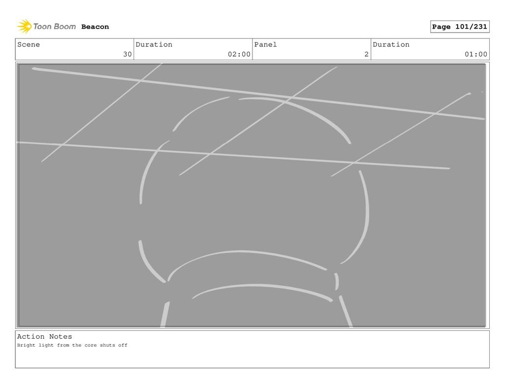 Scene 30 Duration 02:00 Panel 2 Duration 01:00 ...