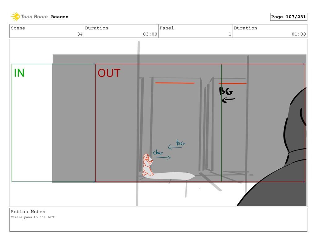 Scene 34 Duration 03:00 Panel 1 Duration 01:00 ...