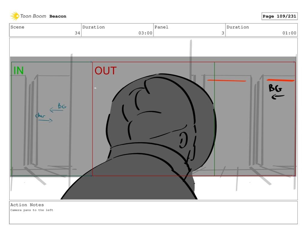 Scene 34 Duration 03:00 Panel 3 Duration 01:00 ...
