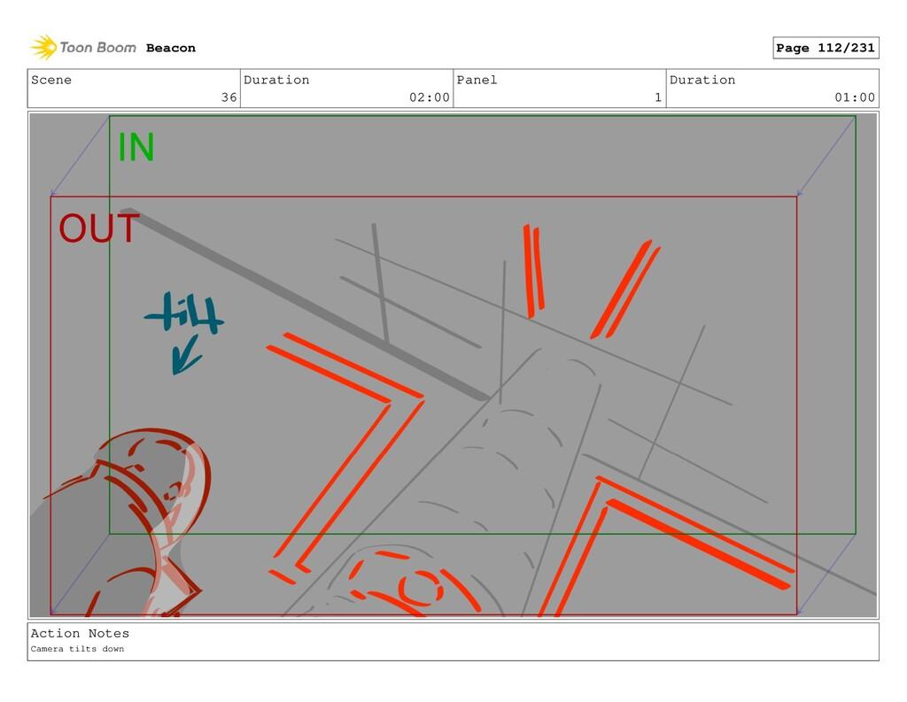 Scene 36 Duration 02:00 Panel 1 Duration 01:00 ...