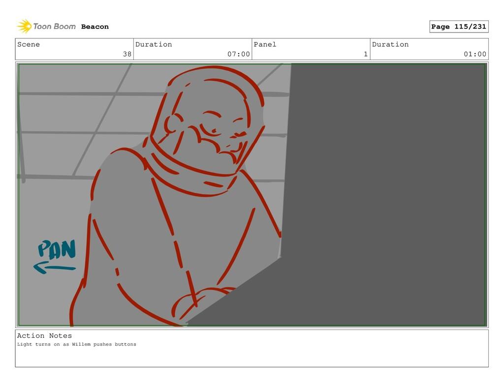 Scene 38 Duration 07:00 Panel 1 Duration 01:00 ...