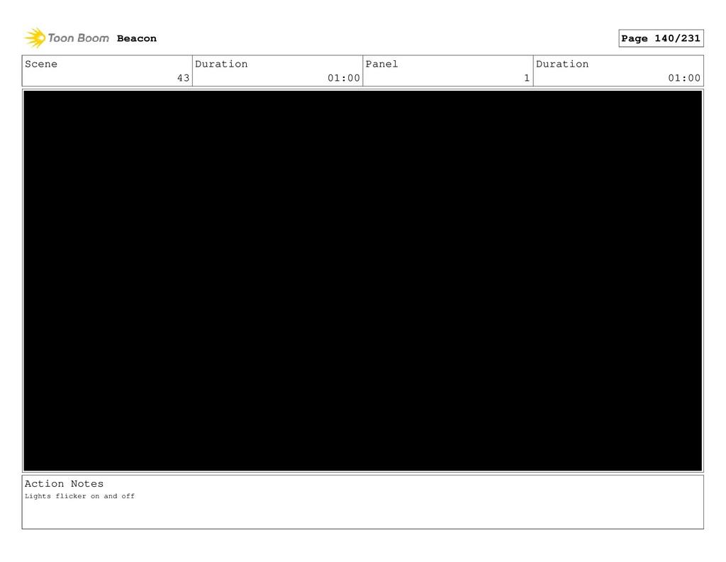 Scene 43 Duration 01:00 Panel 1 Duration 01:00 ...