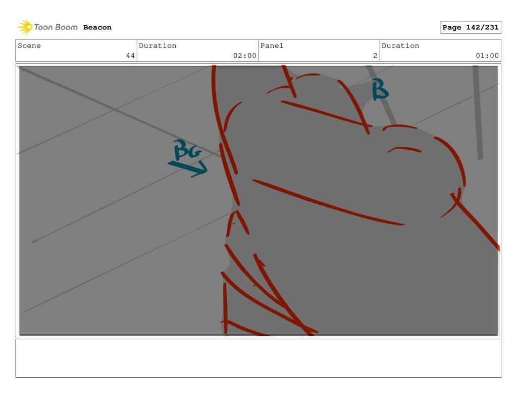 Scene 44 Duration 02:00 Panel 2 Duration 01:00 ...