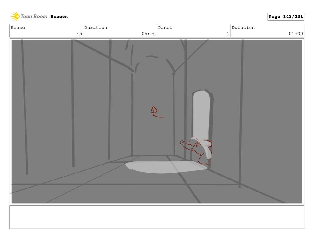 Scene 45 Duration 05:00 Panel 1 Duration 01:00 ...